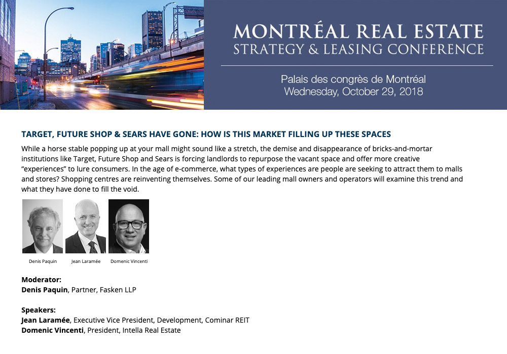 Domenic-Vincenti - Montreal Real Estate Strategy Conference 2018